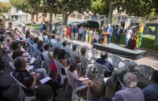 La entrega del Premi Estel de Bellpuig a Josep Maria Matamala.