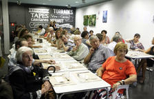 El sopar homenatge va congregar a Lleida a unes 60 persones.