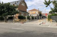 Obres a Fraga per rebaixar les voreres del carrer Riu Cinca