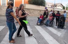 Tàrrega conciencia sobre la dificultad de la movilidad reducida