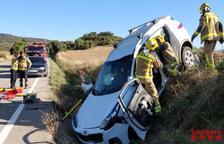 Ferits, un de greu, en accidents a Artesa de Segre i Ossó de Sió