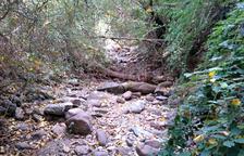 Denuncian que un tramo del río del Cantó está seco