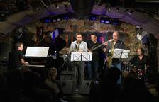 Afroblue, amb el bateria lleidatà Ricard Grau, la setmana passada a la sala Jamboree de Barcelona.