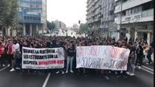 Manifestació d'estudiants a Lleida per la sentència del Procés