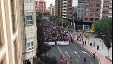 VÍDEO | Una columna amb milers d'estudiants de Lleida es dirigeix a Ricard Viñes