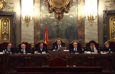 Els set jutges que han redactat la sentència amb Marchena com a ponent