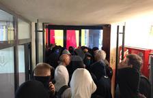 Imatge dels estudiants tancats a dins de la UdL