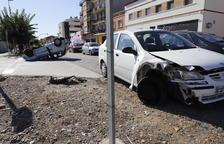 Dos heridas en un aparatoso accidente en Alcarràs
