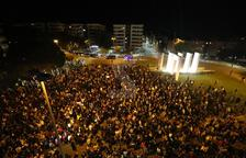 Concentració a la plaça Europa de Lleida en protesta per les detencions
