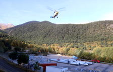 Trabajos con helicóptero para el telesilla de Espot