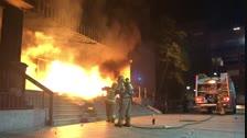 Incendien l'entrada de la delegació d'Hisenda a Lleida
