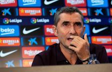 Ernesto Valverde durant la roda de premsa prèvia al partit de demà davant l'Eibar.