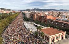 La columna de Sant Quirze en Barcelona.