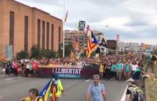 Les 'Marxes per la llibertat' arriben a Barcelona