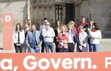 Batet, Mínguez i Larrosa, ahir a la Seu Vella amb la llista del PSC de Lleida per a les eleccions del 10-N.