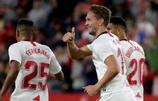 De Jong da la victoria al Sevilla ante el Levante a cinco minutos del final