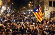 Una de las últimas protestas en Barcelona.