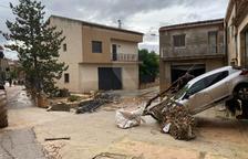 Pluges torrencials tallen carreteres al pla de Lleida