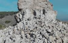 El temporal derriba una torre medieval de Castelló