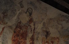 Restauren les pintures murals de l'església de Santa Maria de Palau