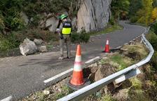 Una allau talla una via de servei a l'Eix Pirinenc