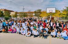 El Força Lleida de bàsquet va visitar el centre educatiu Torre Queralt