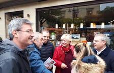 Cañadell va visitar ahir el mercadillo de Guissona.
