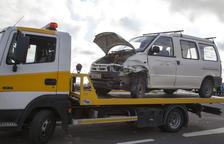 Un herido en una colisión entre dos vehículos en Verdú