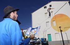 Ivars d'Urgell convierte las aves del Estany en arte urbano