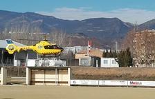 Señalizan el helipuerto de Tremp para que esté operativo 24 horas