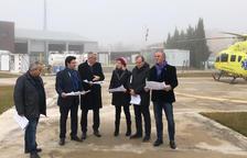 Fins a 300.000 € perquè l'heliport de Tremp tingui un hangar i operi de nit