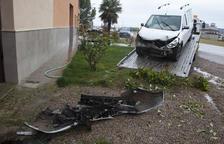 Hospitalitzats dos conductors per sortides de via a Boldú i Bellpuig