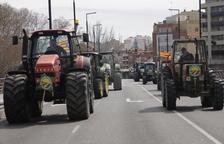 Una tractorada a Lleida el passat mes de març en protesta per la crisi de preus que afecta el sector de la fruita dolça.