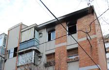 El bloc de l'incendi de Mollerussa, encara sense veïns