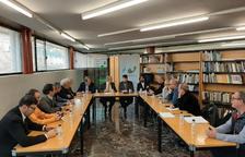 Reunió de PallarsActiu amb el president de FGC, Ricard Font i el d'esports, Gerard Figueras.