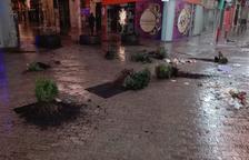 Vandalisme al carrer Democràcia de Lleida