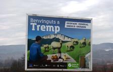 Instalan carteles informativos del Geoparc en las entradas de Tremp