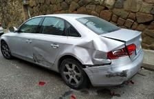 Encuentra su coche destrozado en Guissona el día de Navidad