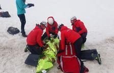 Formació per atendre víctimes d'allaus a la Val d'Aran