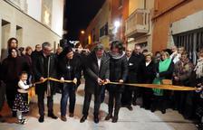 Inauguren les reformes del carrer Nou de Vilanova de Bellpuig