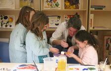 Los pequeños participantes pusieron mucho interés en descubrir los secretos de la técnica artística.