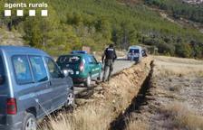 Multan a un conductor por circular campo a través en el Montsec