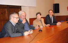 La visita del secretario de Estado a la Casa Canal, Hugo Morán (izq).
