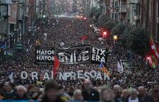 Marcha en Bilbao a favor de los presos de ETA con el apoyo de Podemos