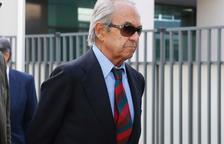 El expresidente de Bankinter a su llegada ayer al juzgado.