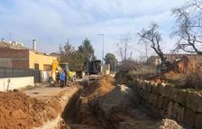 Montgai construye una red de drenaje en la zona del complejo deportivo