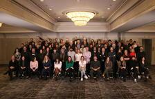 Foto de família de bona part dels nominats als Premis Gaudí en la trobada que van celebrar el mes de desembre passat a Barcelona.