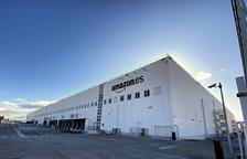 Imatge del magatzem logístic d'Amazon a Madrid.