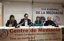 Llauradó, Albareda, Castro y Argilés, ayer en la presentación de los datos de mediación en 2019.