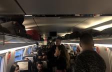 Renfe recol·loca drets en un AVE passatgers d'un Avant Barcelona-Lleida cancel·lat